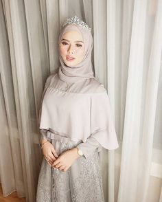 Hijab Prom Dress, Dress Brukat, Hijab Evening Dress, Hijab Style Dress, Muslim Dress, Dress Outfits, Muslim Hijab, Dress Brokat Modern, Kebaya Modern Dress