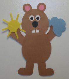 1000 images about holiday crafts groundhogs day on for Groundhog day crafts for preschoolers