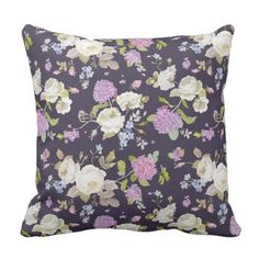 Flower hydrangea ornaments throw pillow flower rose moondance throw pillow valentines day gifts gift idea diy customize special couple love negle Images