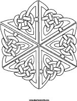 6 Point Celtic Knot Design Coloring Page
