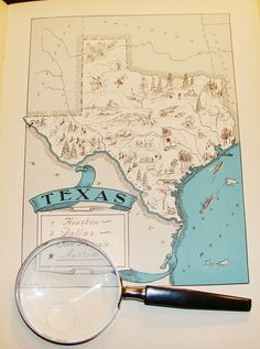 Vintage Texas Map-$21.00