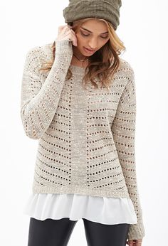 Ruffled Trim Sweater | Forever 21 - 2000058903