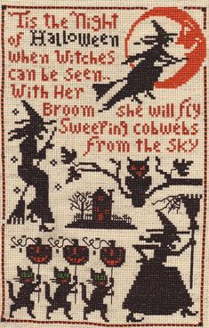 Prairie Schooler Halloween pattern - great vintage patterns here
