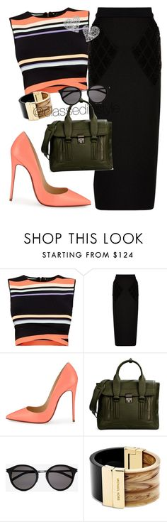 """Untitled #230"" by mama-liciuos ❤ liked on Polyvore featuring Ted Baker, Balenciaga, Christian Louboutin, 3.1 Phillip Lim, Yves Saint Laurent, Michael Kors, Vivienne Westwood, women's clothing, women and female"
