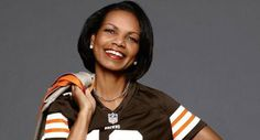 Image detail for -Former Secretary of State Condoleezza Rice, is appearing in the NFL's new campaign ad for fashion forward female football fans. They include fitted T-shirts . Nfl Browns, Cleveland Browns Football, Browns Fans, Football Trophies, Football Fans, Football Shirts, Condoleezza Rice, Aaron Rodgers, Fantasy Football