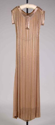 Evening dress Mme. Eta Hentz  Date: 1938 Culture: American Medium: Silk, beads Accession Number: 2009.300.7003a, b