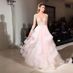 @misshayleypaige never disappoints when it comes to #bridalmarket! Her latest collection is just as full of style and sparkle as you'd expect - love this dreamy snap by @hautebridedesign who styled the gorgeous gowns with even more glitter! #bride #bridal #weddingdress #hayleypaige #runway #fashionshow #pretty #romantic #sparkle #weddinginspo #weddingstyle #instawedding #weddinglove #bridalstyle
