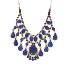 tiered lapis neckpiece silver adorn jewelry sarah lewis