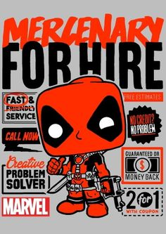 Quiere ser popular (Deadpool) Geeks, Deadpool, Avengers, Pop Posters, Pop Toys, Alternative Movie Posters, Posca, Cultura Pop, Illustrations And Posters