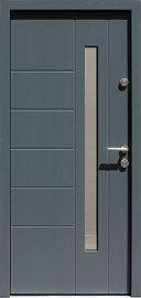 Drzwi zewnętrzne nowoczesne model 475,14 w kolorze jasno szare