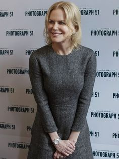 Actress Nicole Kidman poses during a photocall to promote a new production of the play Photograph 51, at the Noel Coward Theatre in London. Kidman stars aspioneering British scientist Rosalind Franklin,the only woman involved in the discovery of DNA's double helix, whose contributions were largely ignored during her lifetime.  Tim Ireland, AP