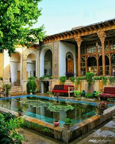 Old house in Shiraz, Iran Architecture Design, Persian Architecture, Beautiful Architecture, Architecture Sketches, Architecture Wallpaper, Dream Home Design, My Dream Home, House Design, Future House
