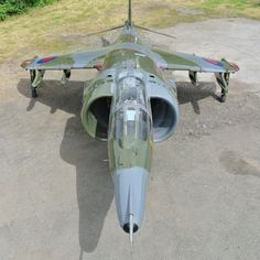 Military fighter jet restorations will sell very inexpensive, cheap for less than Lamborghini. Photos of landing jet on theChive. Military Jets, Military Aircraft, Air Fighter, Fighter Jets, Drones, Aircraft Sales, War Jet, British Aerospace, Falklands War
