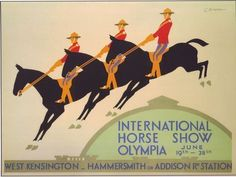 1930 Olympia International Horse-Show Poster