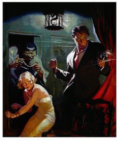 Secret Door Tom Lovell, Illustration from Detective Tales.Tom Lovell, Illustration from Detective Tales. Art And Illustration, Illustrations, Arte Pulp Fiction, Pulp Fiction Book, Frederic Remington, Fantasy Kunst, Fantasy Art, Mafia, Cover Art