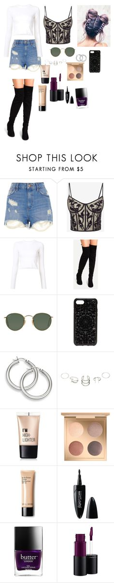 """""""Untitled #145"""" by devlilly on Polyvore featuring River Island, Alexander McQueen, Proenza Schouler, Ray-Ban, Felony Case, Charlotte Russe, Maybelline, Butter London and MAC Cosmetics"""