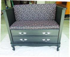 turn dresser into bench