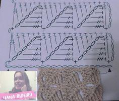 Faça pela primeira vez: Coleção de pontos fantasia, número 01 #Vídeo + #gráfico #crochet #pontofantasia