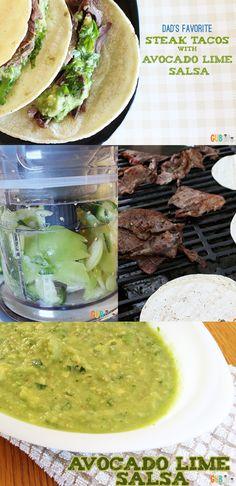 Steak Tacos with Avocado Lime Salsa #WMTmoms