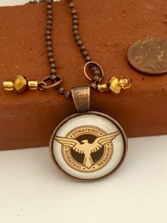 Agent Carter Inspired Copper Pendant
