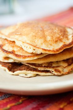 Cottage Cheese Pancakes. Nice low-carb, low fat fluffy pancakes! Great for breakfast or lunch!
