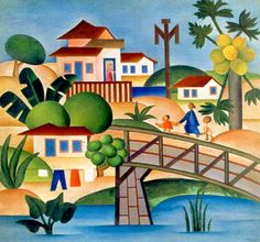 The Papaya Tree By Tarsila Do Amaral . Truly Art Offers Giclee Unframed Prints on Paper, Canvas Art, and Framed Art in all our Collections. Art And Illustration, Plastic Art, Classic Paintings, Arte Popular, Art Database, Naive Art, American Art, Creative Art, Amazing Art