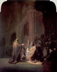 THE PRESENTATION OF JESUS IN THE TEMPLE 1631 oil on wood 25 5/8 x 18 7/8 in. Mauritshuis, The Hague