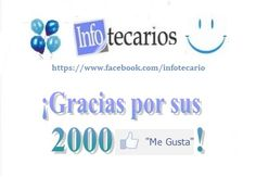 """¡Celebramos que llegamos a los 2000 """"Me gusta"""" en Facebook! ¡Dos mil gracias por su apoyo!"""