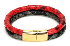 Snake Leather Magnetic Bracelets (2 colors) – BulleStone