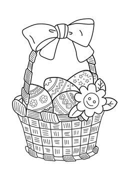 Ostern: Ausmalbild: Osterstrauch zum Ausmalen | Húsvét | Pinterest