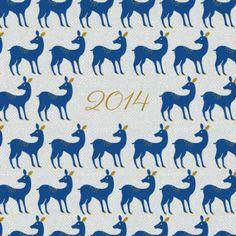 carte de voeux biche de noël by Mr & Mrs Clynk pour www.fairepartnaissance.fr