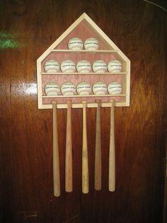 Baseball Mini Bat Display Cabinet Rack Item 166