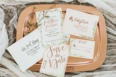 www.elisabethjordancalligraphy.com #wedding #invites #styledshoot #savethedates #marriage #bride