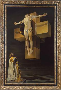 Salvador Dalí: Crucifixion (Corpus Hypercubus), 1954.                                                         ...