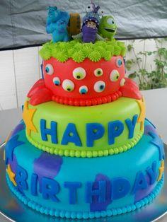 Monsters Inc birthday cake. OMG, so presh