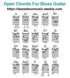 blues chords for guitar Guitar Power Chords, Guitar Chords And Lyrics, Music Theory Guitar, Guitar Chords Beginner, Easy Guitar Songs, Guitar Chords For Songs, Music Guitar, Playing Guitar, Learning Guitar