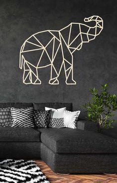 Geometric Drawing, Geometric Art, Scrap Metal Art, Metal Wall Art, Wall Painting Decor, Wall Decor, Paint My Room, Tape Art, Smart Furniture