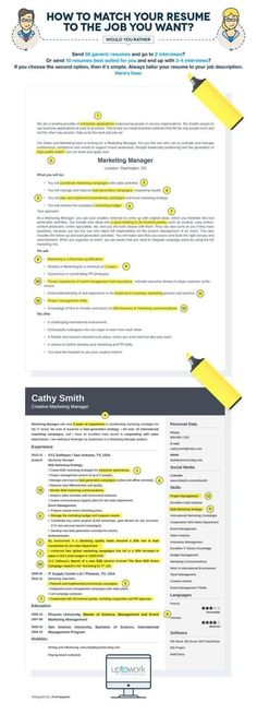 infographic : How to match your resume yo the job you want? // Aumenta tus posibilidades de co