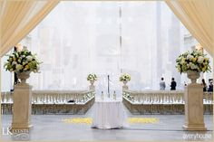 Beautiful navy and golden yellow wedding details from a Chicago wedding. Photos by averyhouse, click photo for more.
