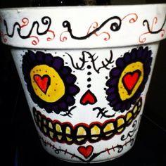 DiY Dia dE los Muertos Flower Pot