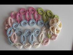 Diadema a crochet - hermosa y original tiara - vincha - banda para el cabello a ganchillo - YouTube Crochet Hair Clips, Crochet Hair Styles, Crochet Earrings, Crochet Butterfly, Ear Warmers, Bargello, Headbands, Lily, Stitch