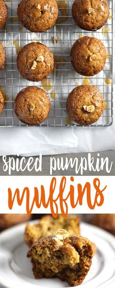 Spiced Pumpkin Muffins are so tender and moist.