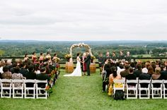 Bluemont Vineyards in Virginia...what a beautiful spot for a wedding...the view is awesome.