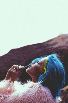 Badlands shared by kayla on We Heart It Halsey Poster, You're The Worst, Reasons To Live, Indie Pop, Beauty Portrait, You're Awesome, Blue Hair, Wall Collage, Ariana Grande