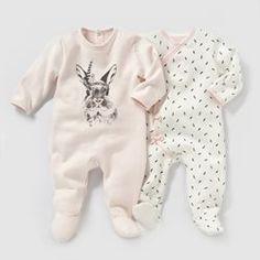 Lote de 2 pijamas em moletão, 0 meses-3 anos R baby - Recém-nascido