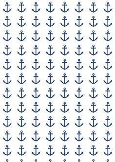 FREE printable nautical anchor pattern paper