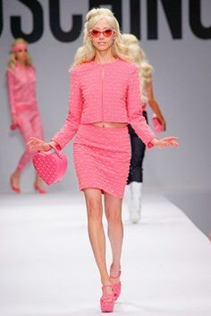 Moschino Spring 2015 barbie collection