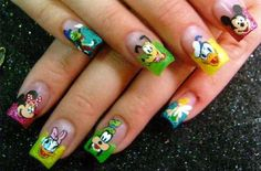Hand Painted Disney Nails!