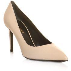 Saint Laurent Paris 85mm point toe shoes ($526) ❤ liked on Polyvore