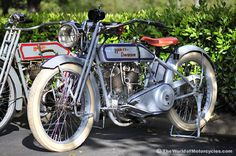 1917 Harley-Davidson Model T (background: 1912 Harley Model X-8)